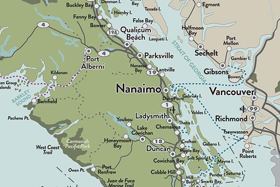Vancouver Island Map