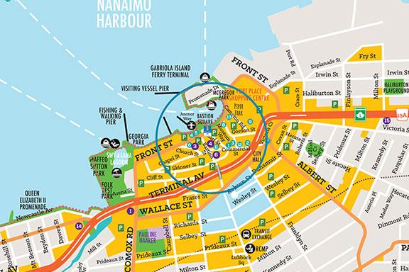 Nanaimo Downtown Map